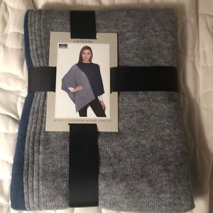 Wool/Cashmere Blend Poncho New In Package